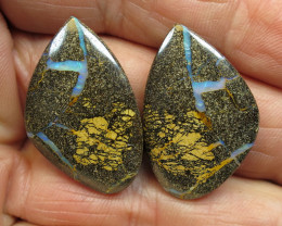 60cts, MINING NOW! BOULDER OPAL PAIR.