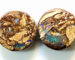 14.65 CTS BOULDER OPAL WOOD FOSSIL PAIRS NC-5071