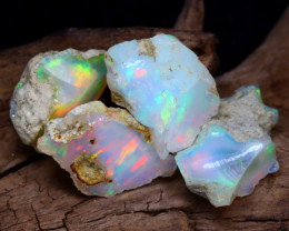 Welo Rough 16.07Ct Natural Ethiopian Play Of Color Rough Opal F1101