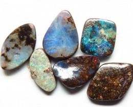17.50ct Queensland Boulder Opal 6 Stone Parcel