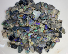 500 CTS BLACK OPSL ROUGH WITH LOTS OF COLOURS #555