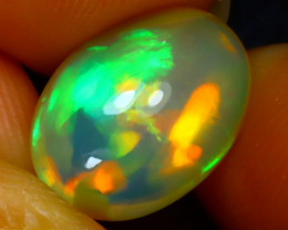 Welo Opal 2.94Ct Natural Ethiopian Play of Color Opal J1505/A44