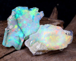 Welo Rough 11.79Ct Natural Ethiopian Play Of Color Rough Opal F1401