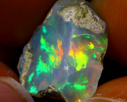 10.42Ct Multi Color Play Ethiopian Welo Opal Rough JN166/R2