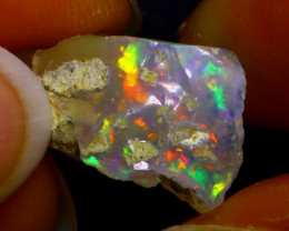 6.25Ct Multi Color Play Ethiopian Welo Opal Rough JN169/R2