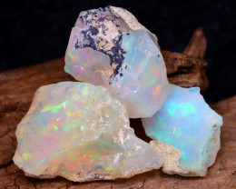 Welo Rough 17.71Ct Natural Ethiopian Play Of Color Rough Opal F1501