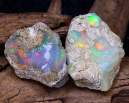 Welo Rough 16.54Ct Natural Ethiopian Play Of Color Rough Opal F1506