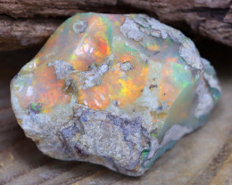 Welo Rough 10.43Ct Natural Ethiopian Play Of Color Rough Opal F1507