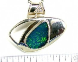 SEA GREEN DOUBLET STERLING SILVER PENDANT T883