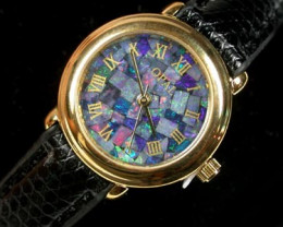 BEAUTIFUL LADIES OPAL WATCH LEATHER BAND  314 L