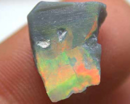 BRIGHT  SOLID BLACK OPAL ROUGH LARGE RED FLASH TRD102
