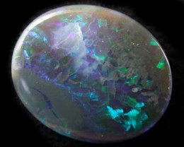 MORE GREEN BLACK OPAL  BLUE INCLUSIONS 2.70 CTS RD 147