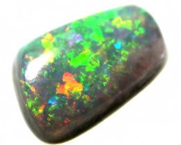 BLAZING MULTI COLOUR FIRE NATURAL BLACK OPAL .50 CTS QO1914