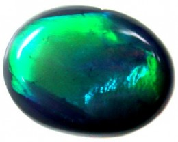 F/S BEAUTIFUL ROLLIN RICHGREEN FIRE BLK OPAL .90 CTS OT693