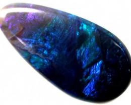 TEAR DROP BLUE FLASH BLACK OPAL 2.90 CTS OT697