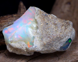 Welo Rough 9.92Ct Natural Ethiopian Play Of Color Rough Opal D1603