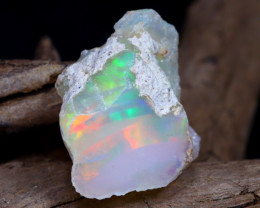 Welo Rough 9.22Ct Natural Ethiopian Play Of Color Rough Opal D1605