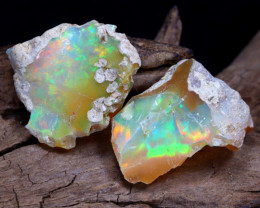 Welo Rough 10.41Ct Natural Ethiopian Play Of Color Rough Opal D1610