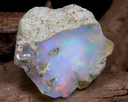 Welo Rough 12.49Ct Natural Ethiopian Play Of Color Rough Opal DT0001