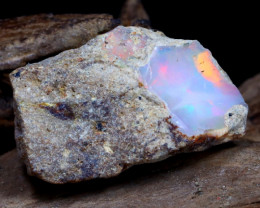 Welo Rough 5.93Ct Natural Ethiopian Play Of Color Rough Opal DT0011