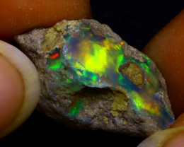 8.79Ct Multi Color Play Ethiopian Welo Opal Rough JN162/R2