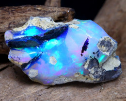 Welo Rough 7.10Ct Natural Ethiopian Play Of Color Rough Opal DT0027