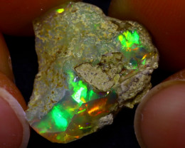 11.19Ct Multi Color Play Ethiopian Welo Opal Rough JN122/R2