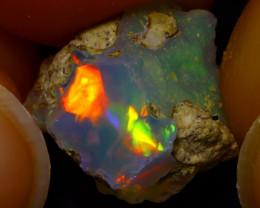 4.17Ct Multi Color Play Ethiopian Welo Opal Rough JN124/R2