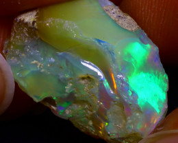 14.13Ct Multi Color Play Ethiopian Welo Opal Rough JN125/R2