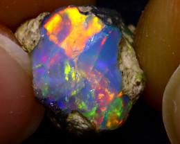3.85Ct Multi Color Play Ethiopian Welo Opal Rough JN128/R2