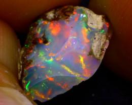 3.08Ct Multi Color Play Ethiopian Welo Opal Rough JN136/R2