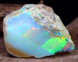 Welo Rough 13.20Ct Natural Ethiopian Play Of Color Rough Opal DT0040