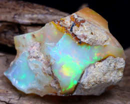 Welo Rough 18.31Ct Natural Ethiopian Play Of Color Rough Opal DT0045