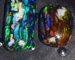 19.50 CRT RARE TIGER STUNING COLOR SPECIMENT INDONESIAN OPAL WOOD FOSSIL*
