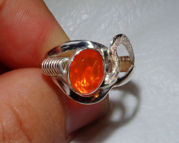 7.5sz Mexican Opal .925 Sterling Silver Ring