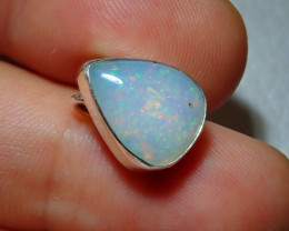 9.06ct Natural Ethiopian Welo Opal .925 Sterling Silver Pendant