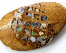 13 CTS BOULDER OPAL INLAY POLISHED STONE  ADO-4970