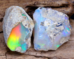 Welo Rough 12.46Ct Natural Ethiopian Play Of Color Rough Opal D1803