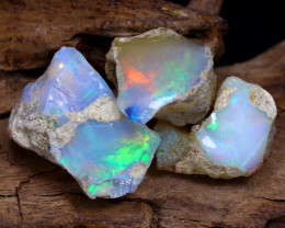 Welo Rough 13.89Ct Natural Ethiopian Play Of Color Rough Opal D1805