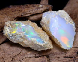 Welo Rough 12.94Ct Natural Ethiopian Play Of Color Rough Opal D1806
