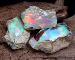 Welo Rough 11.46Ct Natural Ethiopian Play Of Color Rough Opal D1809