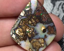 21,55 cts - Koroit boulder opal stone, cabochon
