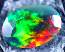 0.74cts Natural Ethiopian Faceted Smoked Opal / BF2410
