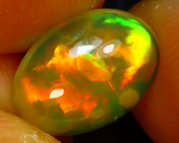 Welo Opal 1.91Ct Natural Ethiopian Play of Color Opal J2303/A44