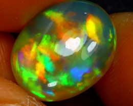 Welo Opal 4.86Ct Natural Ethiopian Play of Color Opal J2313/A44