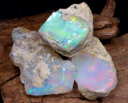 Welo Rough 17.69Ct Natural Ethiopian Play Of Color Rough Opal D1908