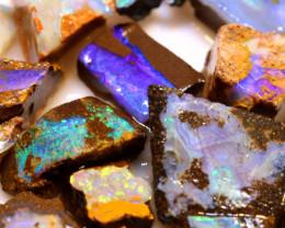 95.10cts Australian Boulder Opal Rough Parcel DOR-2