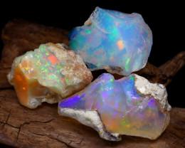 Welo Rough 18.32Ct Natural Ethiopian Play Of Color Rough Opal E2106