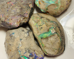 BEAUTIFUL BRIGHT ROUGH NOBBY OPALS #672