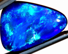 9.97 CTS L.RIDGE  OPAL DOUBLET  ON BLACK  POTCH STONE TBO-A226